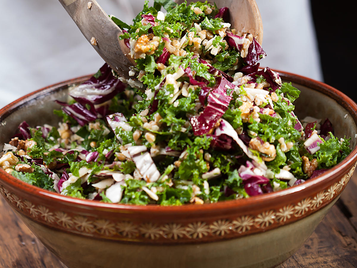 Kale-Radicchio Salad With Farro Recipe | Cooking Light