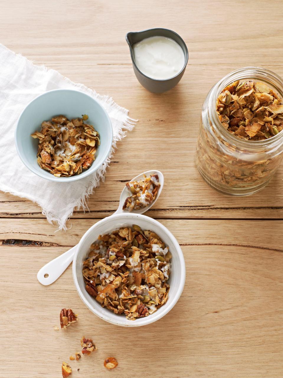 Coco-nutty granola recipe : SBS Food